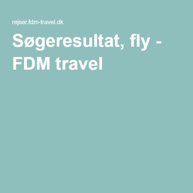 Søgeresultat, fly - FDM travel