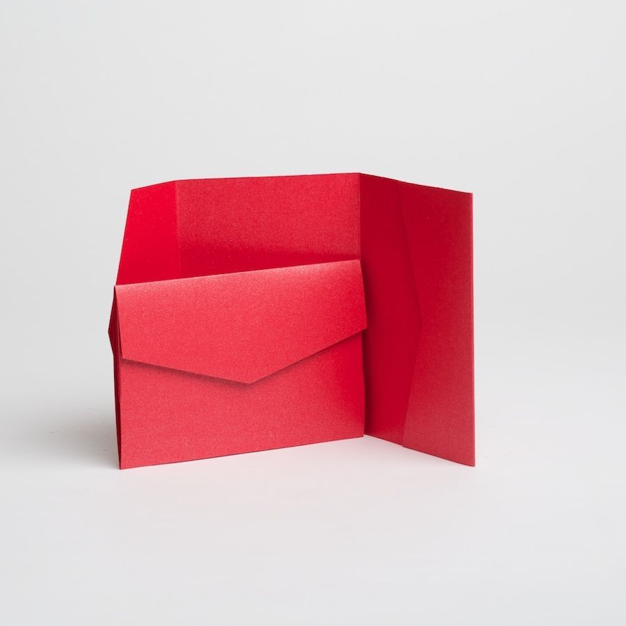 Other Paper Crafts 183243: Bright Red Pearlescent Pocketfold ...