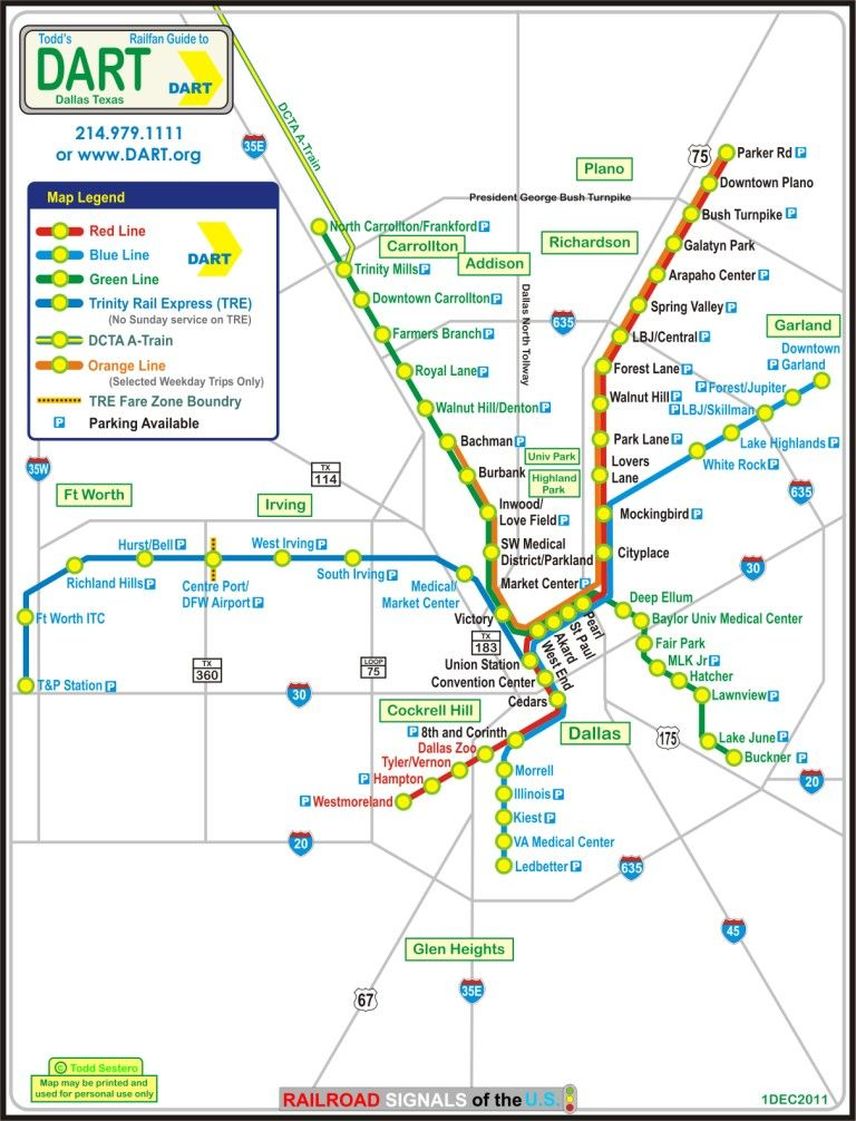 Downtown Dallas Map And Guide Dart Train Map Maps Pinterest