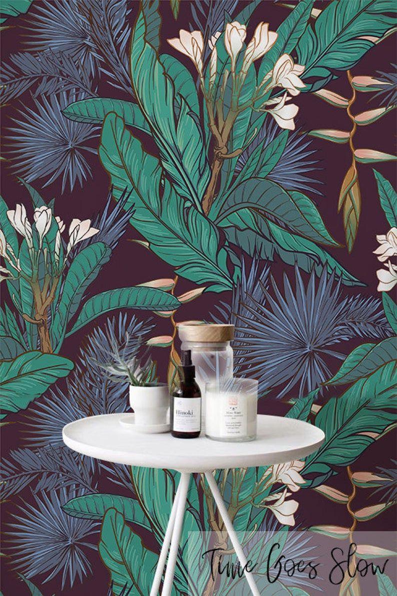 Wall Mural Nature Flower Poppy Bluebells Repositionable Vinyl Interior Art Decor