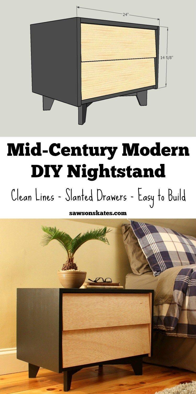 Best Diy Mid Century Modern Nightstand Modern Headboard Diy 640 x 480