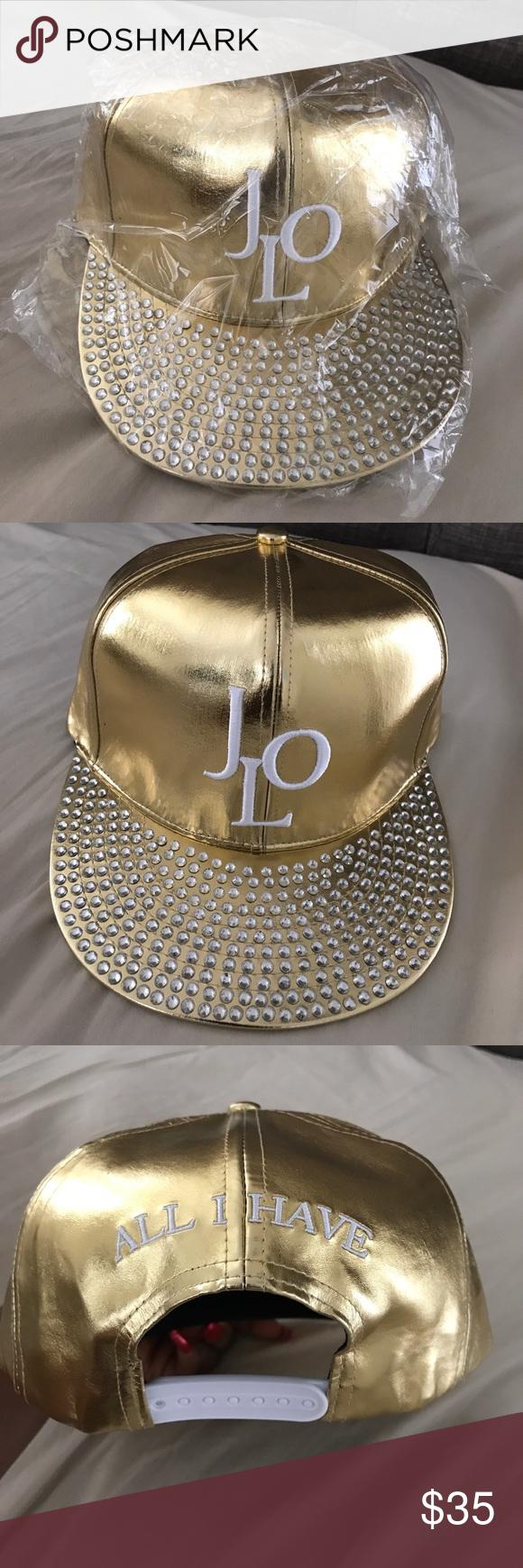b7d747dee34 🆕🎉 Jennifer Lopez  s JLO Gold bling hat