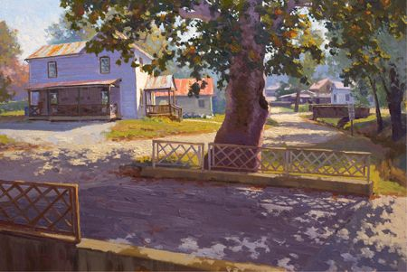 Marthasville MO River Town by Billyo O'Donnell Oil ~ 20 x 30