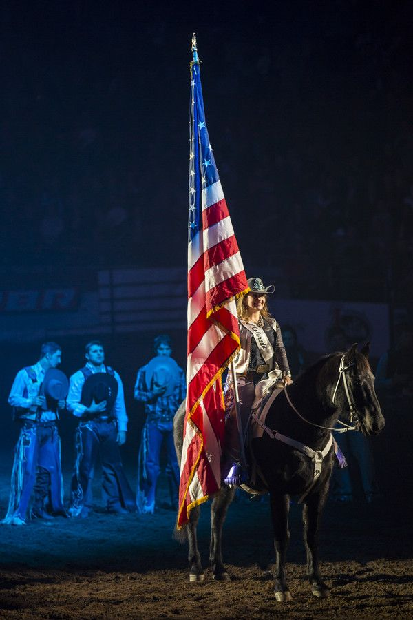 Opening Ceremony Rodeo Usa Flag Horse Cowgirl Ride Speedshopnorth Riders Riding Rodeo Life Trick Riding Bull Riders