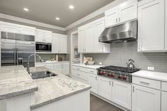 Best White Cabinets Viscount White Granite Kitchen Backsplash 400 x 300