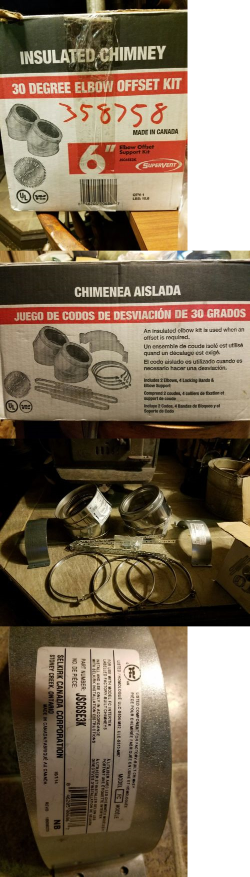 Stove and Chimney Pipes 175803: 6 Insulated Stainless Steel ...