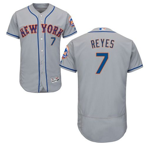 9f6ac9d358f norway mets 7 jose reyes grey flexbase authentic collection stitched mlb  jersey d2064 7b8f8