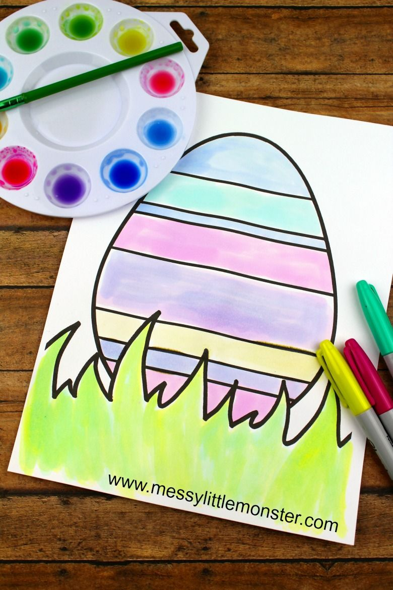 Easter egg colouring pages pottery hand building pinterest