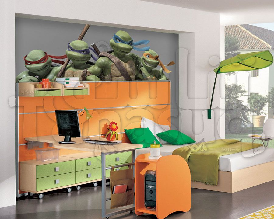 Tmnt Kids Wallpaper ورق جدران سلاحف النينجا لغرف نوم اطفال Tmnt Kids Kids Wallpaper Wallpaper