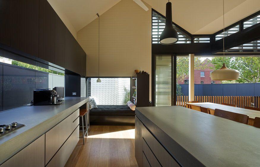 Gallery | Australian Interior Design Awards, great splashback window in kitchen