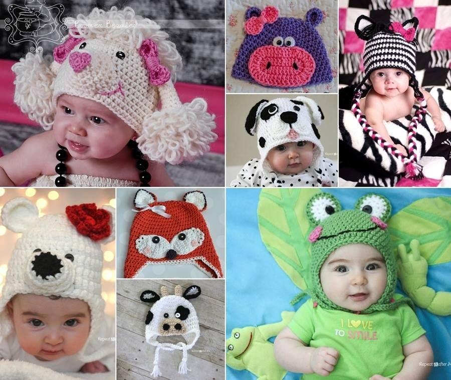 Free Crochet Baby Animal Hats Pinterest Top Pins | Crochet animal ...