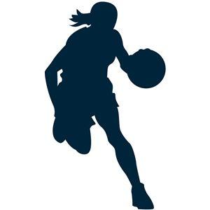 Silhouette Design Store Basketball Girl Basketball Silhouette Basketball Girls Girl Silhouette