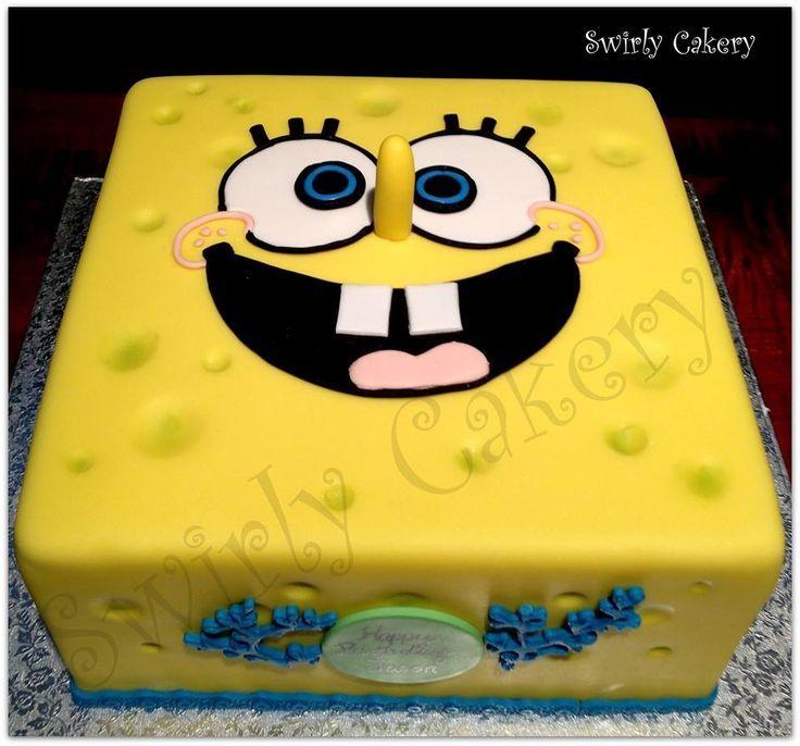 Spongebob Birthday Cake Vanilla Bean cake w French vanilla cream