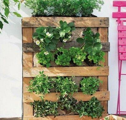 vertikaler-garten-anleitung-diy-projekt-aus-paletten-vertikale, Gartenarbeit