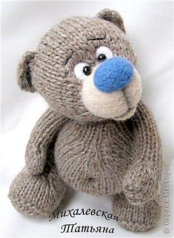 Вяжем спицами игрушки медведей