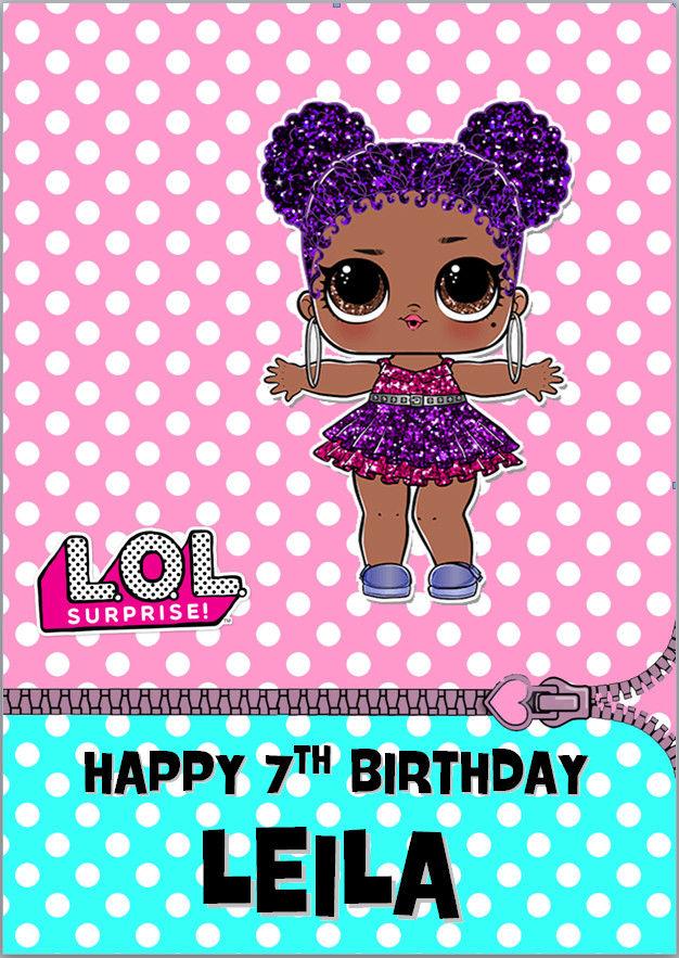 3 29 Gbp Lol Glitter Dolls Purple Queen Lil Sister Surprise
