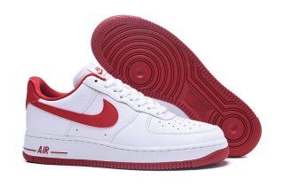 Mens Womens Nike Air Force 1 07 SE White Speed Red AA0287 101 Running Shoes 6f329d071e