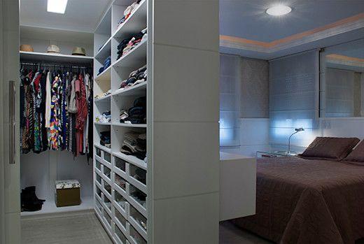 12 ideas fantásticas para tener un vestidor en el dormitorio   homify   homify   Closet behind ...