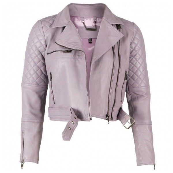 Adrienne quilted asymmetrical biker leather jacket in lavender ($15) ❤ liked on Polyvore featuring outerwear, jackets, tops, zipper leather jacket, asymmetrical zipper jacket, purple leather jacket, purple biker jacket and genuine leather jackets