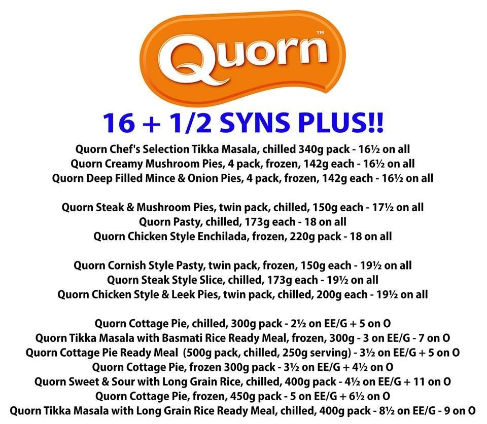 Quorn syns in 2020 | Quorn, Slimming world recipes, Heathy ...
