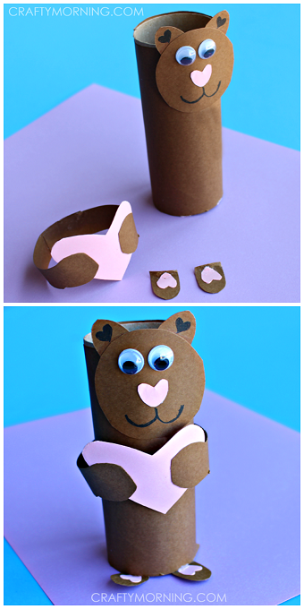 Toilet Paper Roll Valentine Bear Craft \