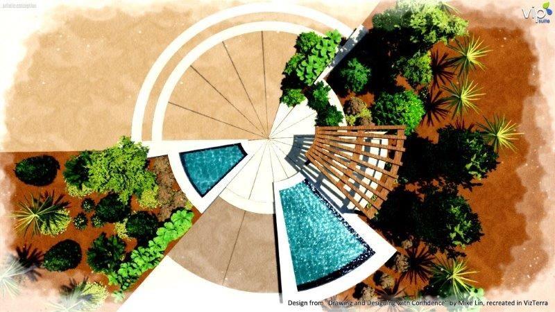 Radial form composition in landscape design ... on