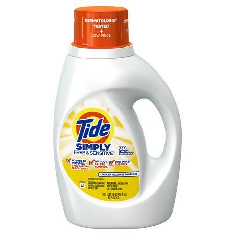 Tide Simply Free Sensitive Liquid Laundry Detergent Liquid Laundry Detergent Laundry Detergent