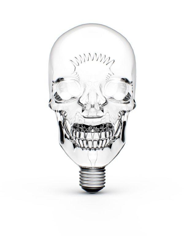 Lightbulb! If I ever take a class where I make glass for a light ...