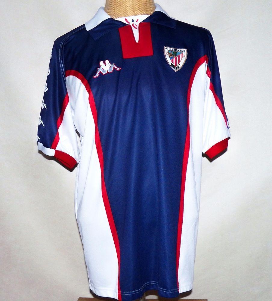 online retailer d4b20 dd033 Vtg Kappa Italy Athletic Club Bilbao 1998 99 Original Away ...