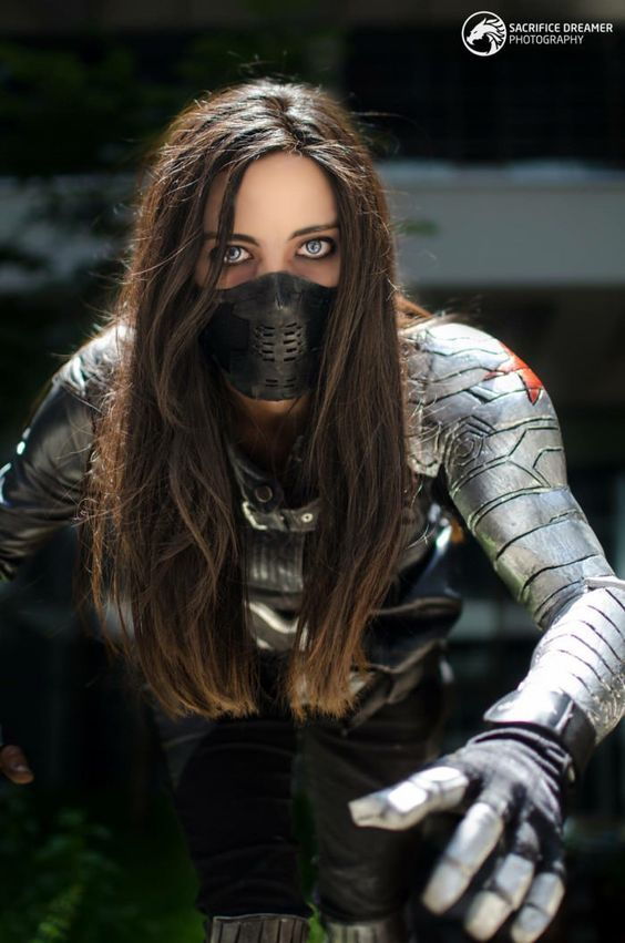 Awesome Motorcycle Helmet Face Masks Winter Soldier Cosplay Cosplay Woman Superhero Cosplay