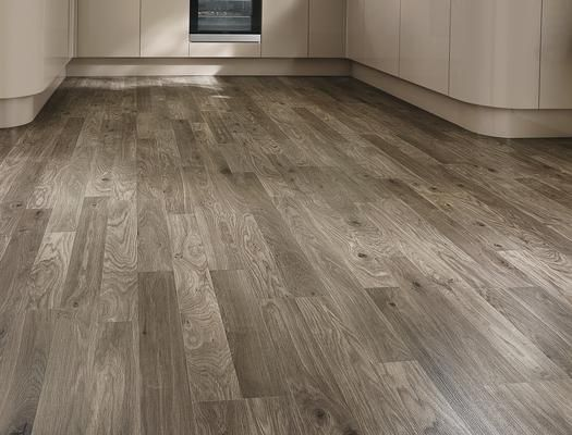 Howdens Professional Dark Grey Oak Flooring Illumination