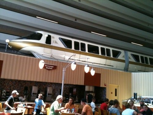 Oh no a train just rode through our restaurant! | Chip and Co's - Disney Pics