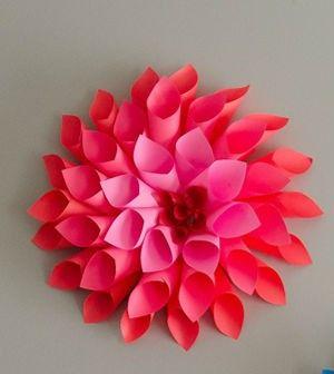 veja como fazer flor dlia de papel