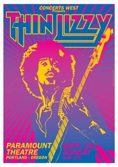 thin lizzy concert poster - Google Search