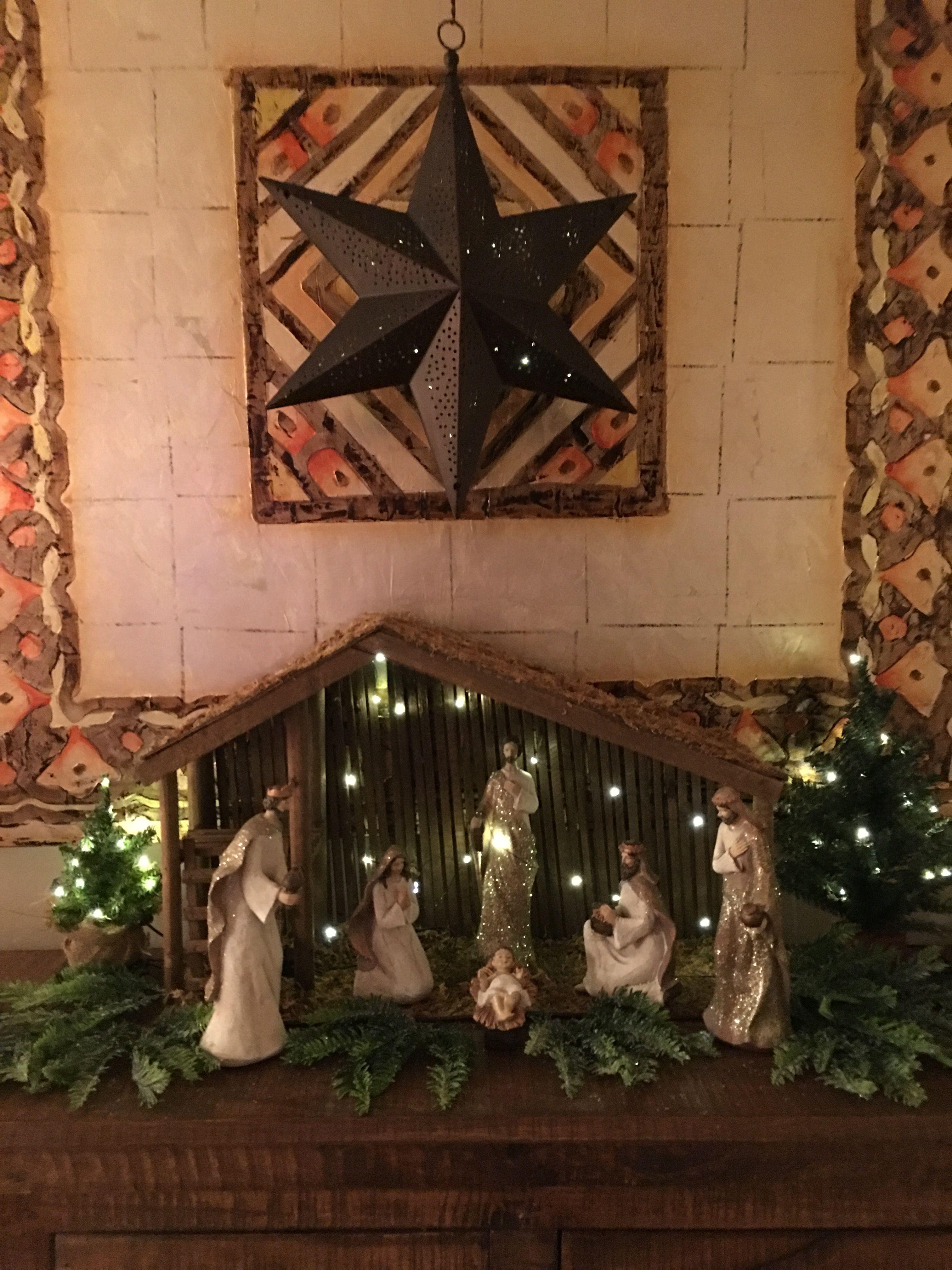 Qvc Christmas.Valerie Parr Hill Nativity Ed Star Bethlehem Lights And