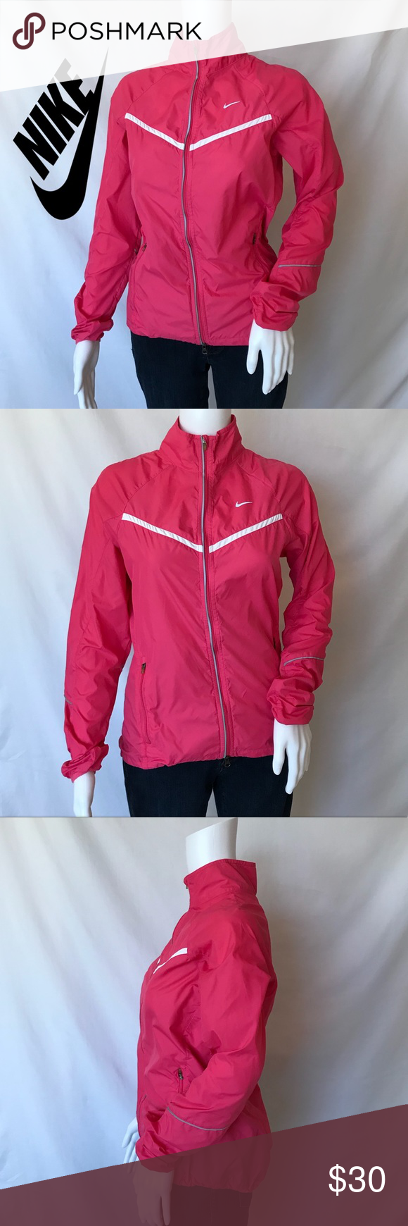 709c66d3b69d Pink Nike Hood-less Windbreaker with pockets Make me an offer! •GREAT  condition! •Lightweight •Outside And inside pockets •Hood-less •Full Zipper  ...