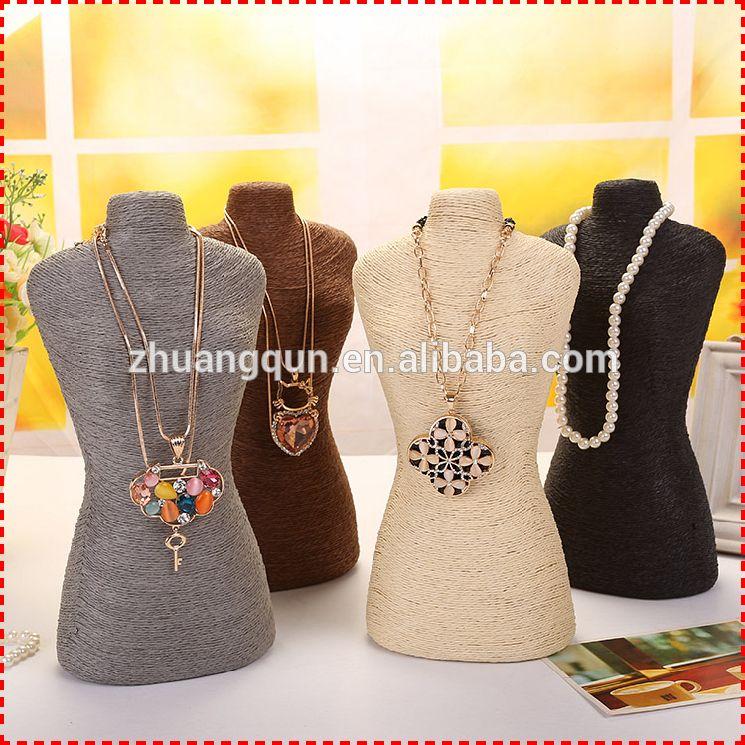 Roupa de venda quente da moda colar stand jóias display& decoração home, mannequin jóias stand