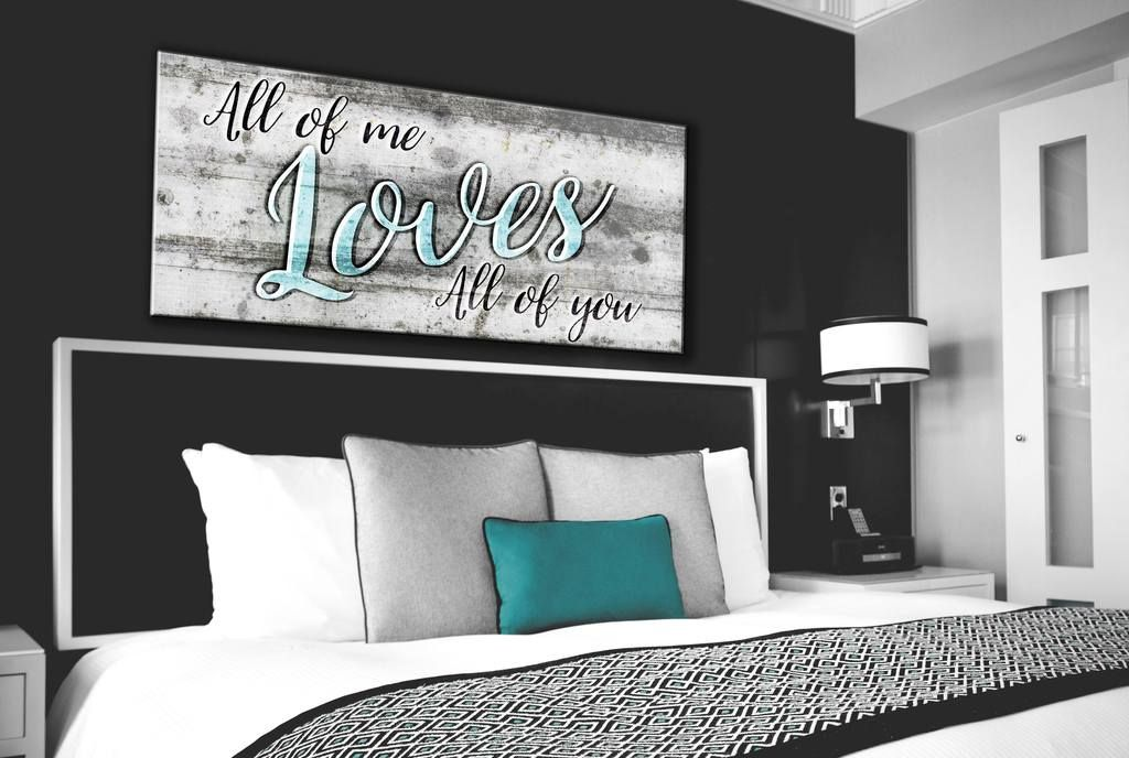 Couples Wall Art: All Of Me Wall Art 2 Sizes Available ...