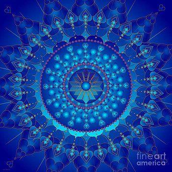 Cancer Healing Mandala by Sarah  Niebank