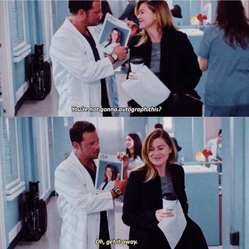 GREY\'S ANATOMY S14E06 Alex and Meredith | TV show | Pinterest ...