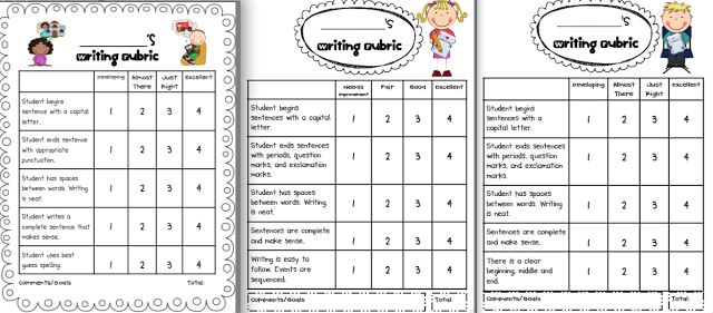Writing rubrics for the primary grades rubrics school and literacy student self assessment rubric template invitation templates stopboris Image collections