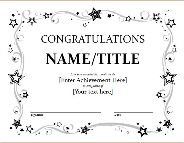 9 Congratulation Certificate Templates Free Printable Word Pdf Award Certificates Awards Certificates Template Certificate Templates