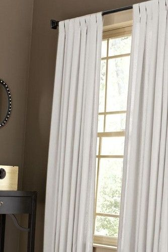 Beau Martha Stewart Living Classic Cotton Drapery Panel, Pure White    Traditional   Curtains     By Home Decorators Collection