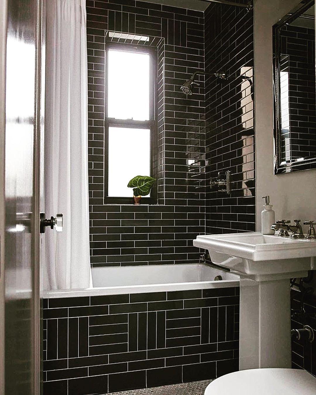 Beautiful Use Of Tile Danmazzarini Art Architecture Apartment Nyc Blackandwhite Bathroom Inspiration Decor Bathroom Decor Simple Bathroom Decor [ 1350 x 1080 Pixel ]