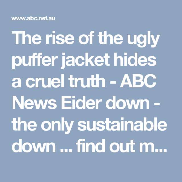 The rise of the ugly puffer jacket hides a cruel truth ABC
