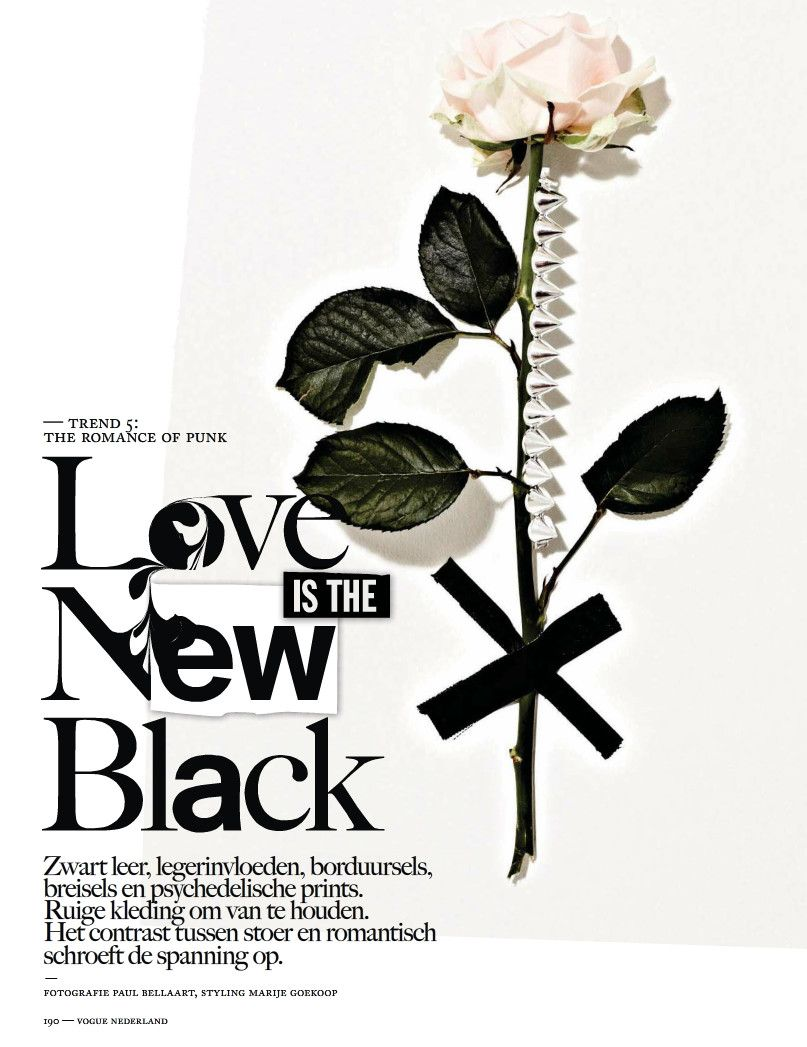 """Love is the New Black"" : Ymre Stiekema & More : Vogue Netherlands September 2012 : Paul Bellaart"