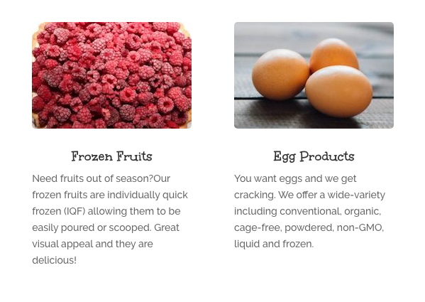 Need fruits out of season? Our frozen fruit selection is a