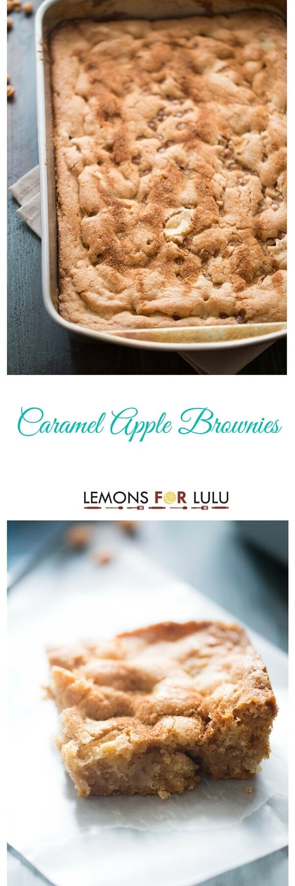 Blondes do have more fun, especially if they are brownies! These caramel apple brownies are soft, tender and subtly sweet! lemonsforlulu.com