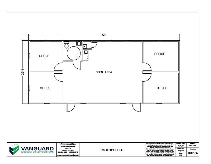 lovely small office floor plans #5: small Office Layout Floor Plan Design vanguard | 24u0027 x 56u0027 Small modular  office