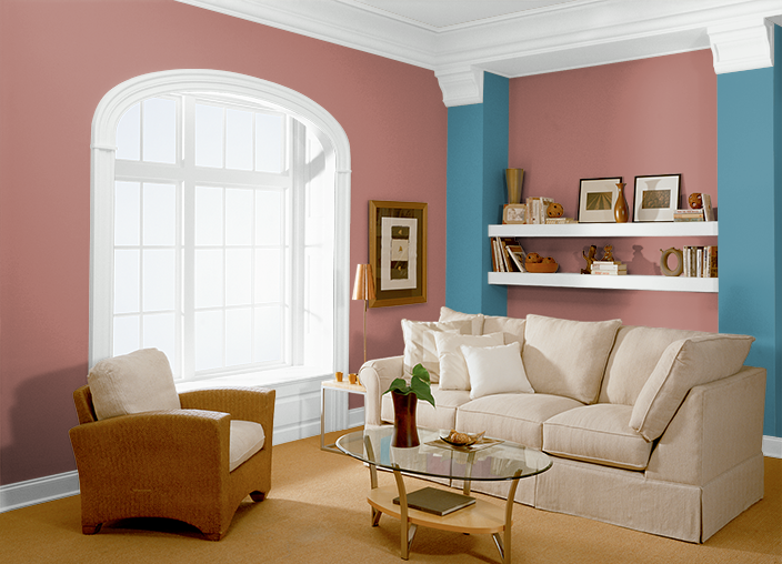 This is the project I created on Behr.com. I used these colors: HOT CHILI(S160-5),BLUE SQUARE(S460-5),RED PEPPER(PPU2-02),PINK ELEPHANT(M170-1),